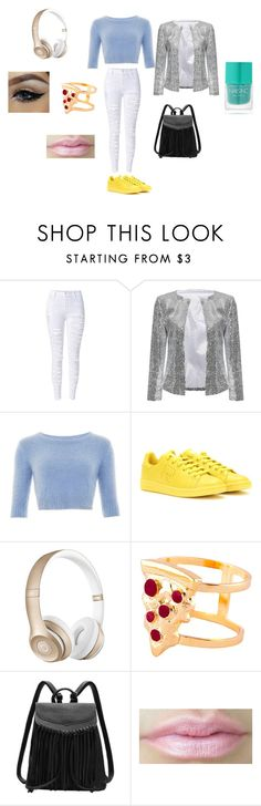 """""""If i were a girl"""" by dabitch2112 on Polyvore featuring adidas, Beats by Dr. Dre, Glenda López, Nails Inc., women's clothing, women's fashion, women, female, woman and misses"""