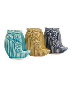 Another great find on #zulily! Small Bristol Owl Canister - Set of Three #zulilyfinds