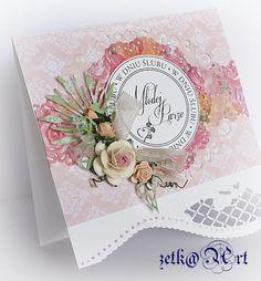 Kartka ślubna (klik w foto po więcej) #scrapbooking