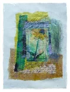 Paper and fabric collage