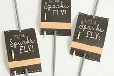 Found on Something Blue (http://somethingturquoise.com/2015/07/03/diy-free-wedding-sparkler-tags-and-sign/) - Pinterested @ http://wedspiration.com.