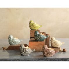 Ceramic Bird Tealight Holders, So sweet I have to get these.