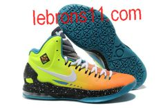 Kevin Durant 5 Surf Style Gradient Red Neon Green Yellow Shoes