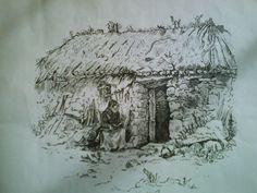 Drawn in black artists pen