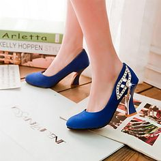 Leatherette Women's Spool Heel Heels Pumps/Heels Shoes(More Colors) – USD $ 23.99