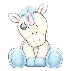 Legend the Unicorn / Tatty Teddy Tatty Teddy, Teddy Bear, Animal Drawings, Cute Drawings, Drawing Sketches, Drawing Ideas, Cute Images, Cute Pictures, Baby Animals