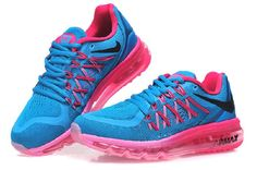 huge selection of fef3e fefd3 Billig Rabatt Nike Air Max 2015 På Salg Blå Rosa Joggesko Salg Online Best Nike  Air Max Svart Butikk. Martha Sneakers
