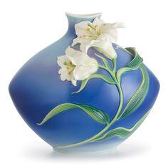 Franz Porcelain Collection Lily Flower Medium Vase