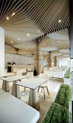 Graffiti cafe, Varna, Bulgaria  Restaurant & Bar design award 2012 of London