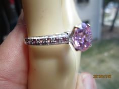 Vintage Designer 3.00ctw Pink Sapphire  Solid Sterling Silver 925 Rings Size 8, Wt. 4.4 Grams by TamisVintageShop on Etsy