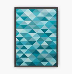 Geometric wall art - Abstract - Poster - Triangles - Minimalist - Wall print - Printed art