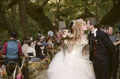 kiss at the end of the aisle