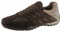 Geox »Snake« Sneaker, im Materialmix für 99,99€. Modischer Schnürschuh für den Alltag, Aus Veloursleder und Mesh, Futter aus leichtem Mesh bei OTTO
