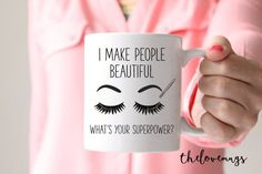 Gift for Make Up Artist Gift for Esthetician Cosmetologist Gift Gift for Hair Stylist Funny Mug Coworker Gift Salon Gift Stylist Gift Cosmetology Quotes, Hairstylist Quotes, Cosmetology Student, Cosmetology Graduation, Makeup Artist Quotes, Best Makeup Artist, Makeup Quotes, Makeup Artists, Beauty Quotes