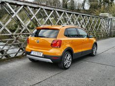 The rear of the Cross Polo also has an SUV look to it Vw Polo Cross, Driving Test, Volkswagen, Audi