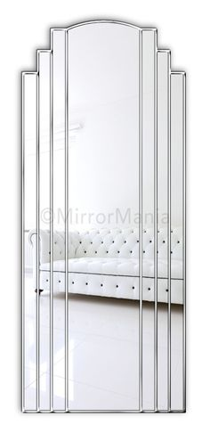 Naples Original Handcrafted Full Length Wall Mirror - Art Deco - Mirrors