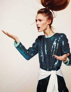 "Franziska Mueller in ""Jump Around"" by Duy Vo for Vogue Netherlands, May 2014"