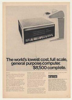Digital PDP-8/L General Purpose Computer Ad (1968).
