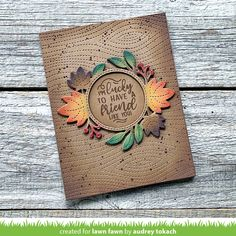 Lawn Fawn Intro: Magic Iris Fall Leaves Add-On - Lawn Fawn Fall Leaves Background, Lawn Fawn Blog, Lawn Fawn Stamps, Polka Dot Paper, Welcome Fall, Interactive Cards, Fall Cards, Pretty Cards, Hero Arts