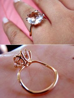 Pink Diamond Solitaire, or even a Padparascha Sapphire, Pink something... yes plz!