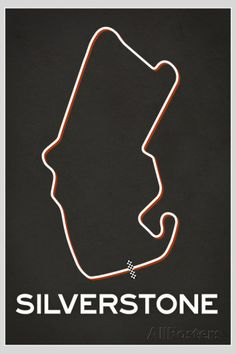 Silverstone Race Course Poster Posters at AllPosters.com