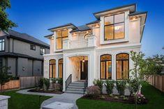 Stucco paint, luxury modern homes, luxury homes dream houses, contemporar. Luxury Modern Homes, Luxury Homes Dream Houses, House Front Design, Modern House Design, Fachada Colonial, Residential Windows, Dream House Interior, Villa Design, Classic House