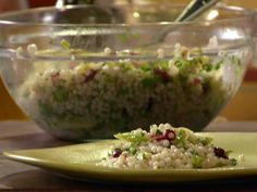 Israeli Couscous with Celery, Scallions and Cranberries recipe from Anne Burrell via Food Network