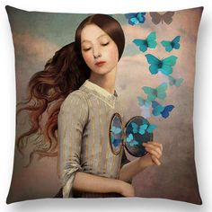 Eccentric Portrait Pillow Cover