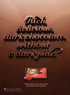 Dove Chocolate   Jessica Hische