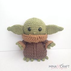 Ravelry: Baby Yoda Amigurumi pattern by Yazmina Nieblas Crochet Patterns Amigurumi, Amigurumi Doll, Crochet Dolls, Crochet Baby, Free Crochet, Star Wars Crochet, Crochet Stars, Crochet Crafts, Crochet Projects