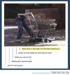 Meanwhile in Silent Hill's Wal-mart parking lot…