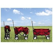 Foldable wagon - can get at Sam's and Costco for around $55.  I am getting one of these to roll my laundry to and from the Laundry Mat.  Can you say NICE!  We have used a rolling garden wagon for years to haul our stuff to and from the beach.  Saves so much back pain!