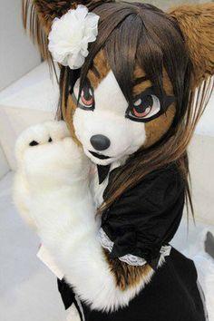 Cute anime style fursuit!