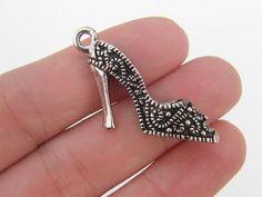 BULK 10 High heel shoe pendants  double sided and by nicoledebruin, $10.50