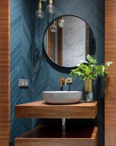 Badezimmer 15 ideas bath room ideas modern dark powder rooms for 2019 Bathroom Design Inspiration, Bad Inspiration, Design Ideas, Chandelier In Living Room, Rustic Chandelier, Home Design, Home Interior Design, Luxury Interior, Interior Ideas