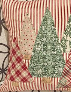 Christmas Tree Pillow Cover, Trees Pillow Cover, Farmhouse Christmas, Farmhouse Christmas Decor, Red Ticking Christmas Celebrate the Season with our Christmas Trees Pillow Cover featured from our 2017 Red Ticking Christmas Collection. Farmhouse Christmas Decor, Rustic Christmas, Christmas Fun, Christmas Decorations, Christmas Ornaments, Tree Decorations, Modern Christmas, Christmas Quotes, Christmas Carol