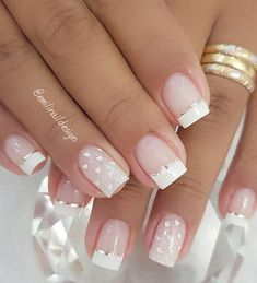 Weddings are important for all women because they are the new beginning of their lives. Whether you're planning a wedding soon or just dreaming, wedding nails should be on your list. If you need more ideas for your gorgeous wedding nails, here are th Gel Nail Designs, Nails Design, Nail Trends, Wedding Nails, Nail Colors, Gel Nails, Wedding Planning, Design Ideas, Beauty