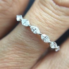1.00ct Marquise Cut Diamond Eternity Band