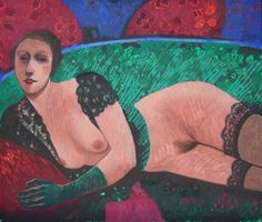 Diva desnuda, óleo sobre tela, 110 x 130 cm.