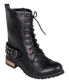 Look what I found on #zulily! Black Mason Boot #zulilyfinds