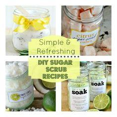 sugar scrub recipes