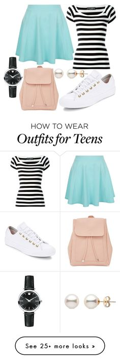 """Casual"" by elli-jane-xox on Polyvore featuring Dolce&Gabbana, Converse, New Look and Movado"