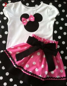 2013 Summer New Children Girl's 2PC Sets Skirt Suit Minnie Mouse baby Clothing sets dots skirt dots pants girls clothes GQT-213 $11.94