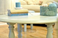 Round Coffee Table From A Dinning Table