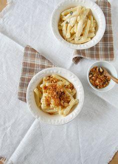 Macarrão com provolone e limão siciliano