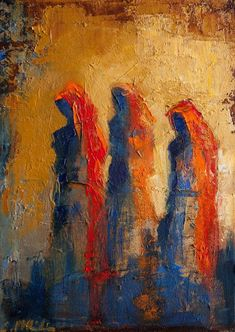 DPW Fine Art Friendly Auctions - Three Women in the Desert by Shelby McQuilkin Abstract figurative oil painting: Oil Painting Abstract, Figure Painting, Abstract Art, Chalk Pastel Art, People Art, Texture Art, Figurative Art, Original Art, Fine Art