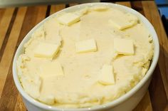 make ahead mashed potatoes by The Pioneer Woman...i LOVE her!! she's a culinary genius! her recipes are so easy and simple!!!