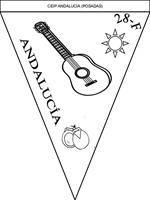 Banderín: Día de Andalucía Cards, Stuff To Buy, Ideas Para, Science, School, Flag, Map