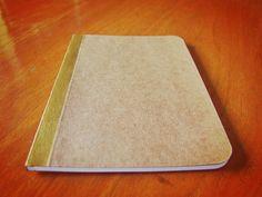 Handmade Gold Painted Notebook, Pocket Journal, Original Moleskine, Mini Diary and Jotter...