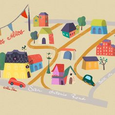 #illustratedmap . .. . . . . . #map #losaltos #illustrationoftheday #illustrationartist #illustrationdaily #illustrations #illustratedmaps #editorials #alisabloom #prints
